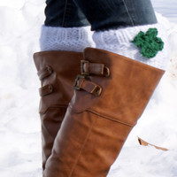 Women's Boot Cuffs, Boot Cuff, Boot Topper, Boot Socks, Legwarmers- St. Patrick's Day Boot Cuffs