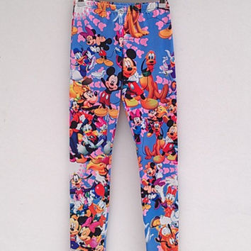 Disney Printed Leggings, Donald Duck, Mickey, Minnie, Goofy, Pluto