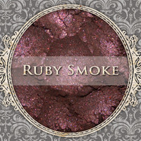 RUBY SMOKE Mineral Eyeshadow: 5g Sfter Jar, Smokey Dark Red, Natural Cosmetics, Shimmer Eyeshadow
