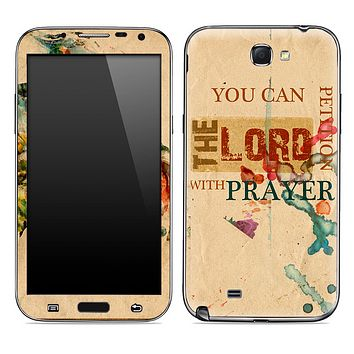 Petition the Lord with Prayer Skin for the Samsung Galaxy Note 1 or 2