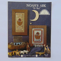 "Noah's Ark ""At Sea"" Cross Stitch Pattern Booklet Leaflet"