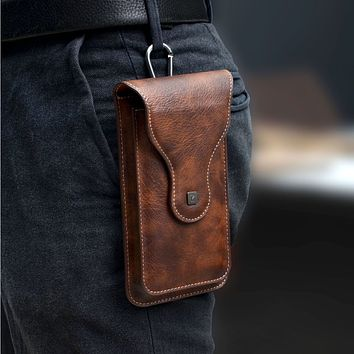 Men's Western Style Leather Smartphone Case