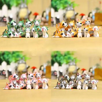 5 colors Cute Cat Miniature Fairy Garden Home Decorations