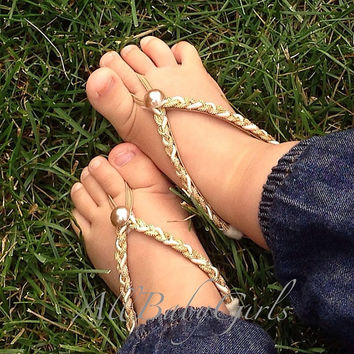 Gold Barefoot Sandals, Barefoot Sandals Baby, Barefoot Baby Sandals, Baby Sandals, Baby Barefoot Sandals, Barefoot Sandals For Babies, Pearl