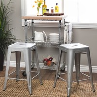 Tabouret 24-inch Metal Counter Stools (Set of 2) | Overstock.com Shopping - The Best Deals on Bar Stools