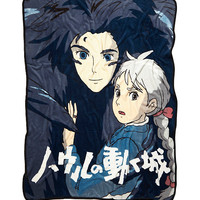 Studio Ghibli Howl's Moving Castle Howl & Sophie Plush Throw
