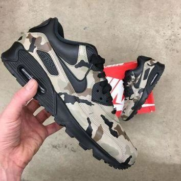 ONETOW Custom Painted Desert Camo Nike Air Max 90 Sneakers