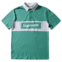 Supreme  Men Fashion Casual Sports Shirt Top Tee