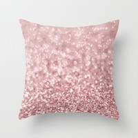 Morning Blush Throw Pillow by Lisa Argyropoulos | Society6