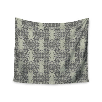 """Mydeas """"Illusion Damask Silver"""" Gray Wall Tapestry"""