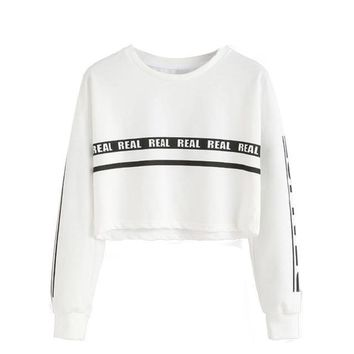 Realist Crop Top Sweater - White