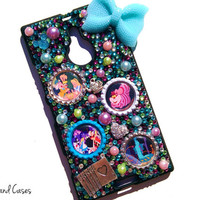 Custom Alice in Wonderland Phone Case Mad Hatter Cheshire Cat Bling Rhinestone Phone Case Cover Tablet iPhone 6 5 5S Samsung Galaxy Note
