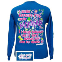 Girlie Girl Originals Momma 2 Smile Mom Mother Long Sleeve Bright T Shirt