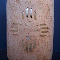Zia Sunface Outdoor Ceramic Wall Light