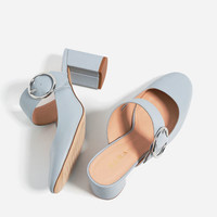 BUCKLED BLOCK HEEL SHOES - View all-SHOES-WOMAN | ZARA United States