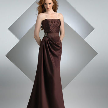 Bari Jay Bridesmaids 202 Long Satin Dress
