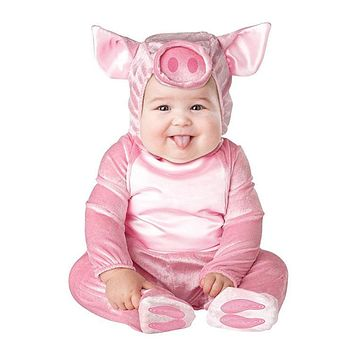 New Baby Halloween Rompers Cute Animal Cosplay Boys Jumpsuits Pink Pig Girls Shape Baby Costumes Infants Clothes Christmas Gift