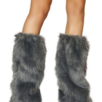 Fur Boot Covers - Grey