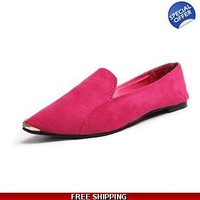 Colorful pointy loafers
