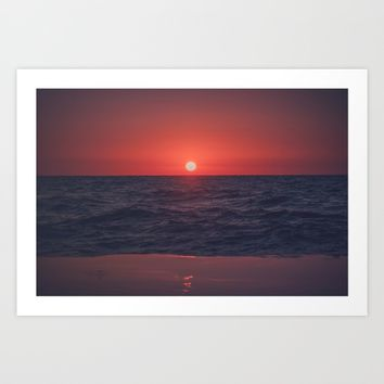 Restless Sunset Art Print by Faded  Photos
