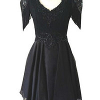 Black Gothic Lace Vintage Lolita Victorian Skater Dress