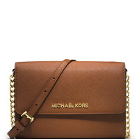 Michael Michael Kors Jet Set Travel Crossbody Phone Case/Wallet, Luggage LAVELIQ