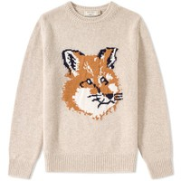 Maison Kitsuné Fox Head Crew Knit