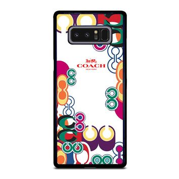 COACH NEW YORK COLOR Samsung Galaxy Note 8 Case Cover