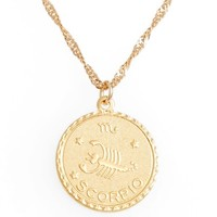 Cam Jewelry Ascending Zodiac Medallion Necklace | Nordstrom