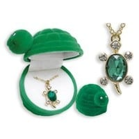 Amazon.com: TURTLE Crystal Pendant Necklace in Turtle shaped Gift Box: Jewelry