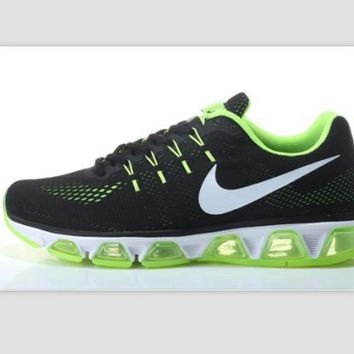NIKE Women Men Running Sport Casual Shoes Sneakers Black Green