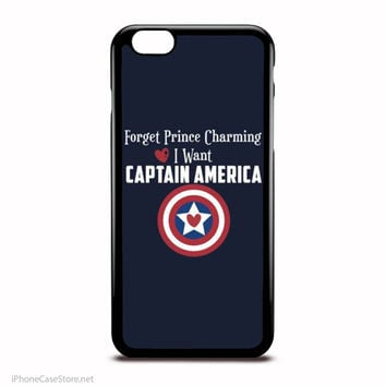 Forget Prince Charming, I Want Captain America Marvel Comics Characters Case For Iphone Case