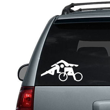 Triathlon Athlete - Car Decal or Computer Decal