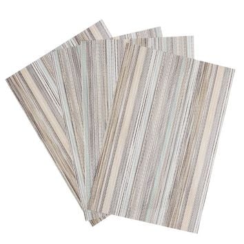 Set of 4 PVC Decorative Vinyl Placemats for Dining Table - Free Shipping