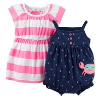 Carter's Nautical Dress & Bodysuit Set - Baby Girl, Size: