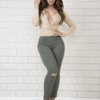 Rolling in the Deep Bodysuit - Taupe