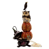 Jim Shore Stack-O-Lanterns Halloween Figurine