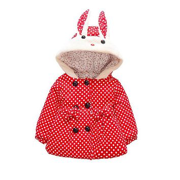 Spring winter newborn girls baby child clothes outfit jacket outerwear for infant baby girls clothing cute dot jackets coats