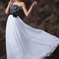 Black & White Splicing Glam Bridesmaids Dresses Evening Prom Cocktail Long Dress
