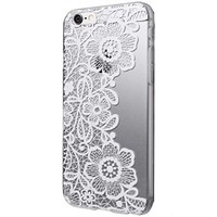 ABC Clear Lace Floral Flower Plastic Hard Back Case for iPhone 6 Plus