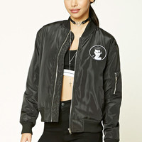 Cry Baby Patched Bomber Jacket
