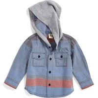 Infant Boy's Tucker + Tate Hooded Woven Shirt,