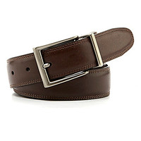 Roundtree & Yorke Resa Leather Belt - Brown