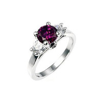 Mini Amethyst Triplet Ring (size: 06)
