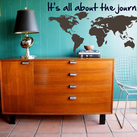 Map your Journey - Explore, Dream, Discover the WORLD - vinyl wall art  decals sticker graphic by 3rdaveshore