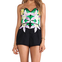 Alice McCall Come to Ulster Playsuit in Black
