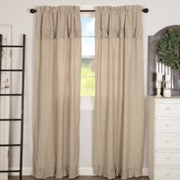 Owens Mill Ticking Stripe Panel Curtains