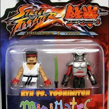 Street Fighter X Tekken Ryu Vs Yoshimitsu Minimates Action Figures