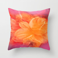 Spinning Flower Throw Pillow by Jenartanddesign