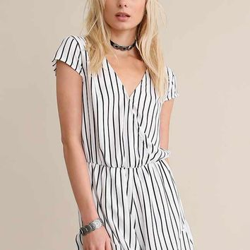 Coralia Striped Romper